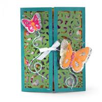 Sizzix Thinlits Die Set 10PK - Gatefold Card Butterflies 661390