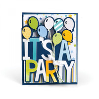 Sizzix Framelits Die Set 6PK - It's a Party Drop Ins 661831