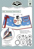Karen Burniston - Snowman Twist Circle 1012