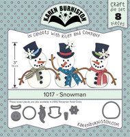 Karen Burniston - Snowman 1017