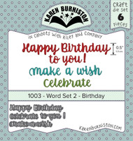 Karen Burniston - Word Set #2 Birthday Die Set 1003