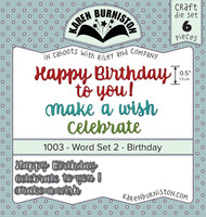 Karen Burniston - Word Set #2 Birthday Die Set 1003