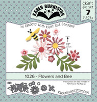 Karen Burniston - Flowers & Bee 1026