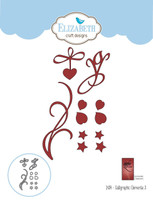 Elizabeth Craft Design Die - Calligraphic Elements 3 1434