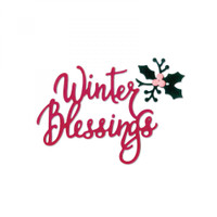 Sizzix Thinlits Die Set - Winter Blessings 662447