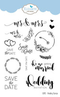 Elizabeth Craft Designs Moda Scrap - Wedding Sentiments Stamps CS092
