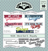 Karen Burniston - Word Set 5 Royalty 1034