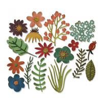 Sizzix Thinlits Die Set 17PK TH - Funky Floral #1 662700