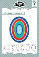 Karen Burniston - Ovals Crosshatch 1055
