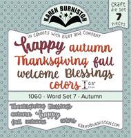 Karen Burniston - Word Set 7 Autumn  1060