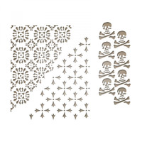 Sizzix Thinlits Die Set Tim Holtz 3PK - Mixed Media Halloween #2 663089