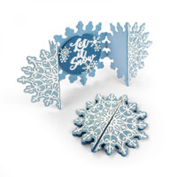 Sizzix Thinlits Die Set 5PK - Snowflake Card Fold a Long 663175