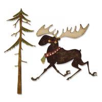 Sizzix Thinlits Die Set 7PK - Merry Moose 663103