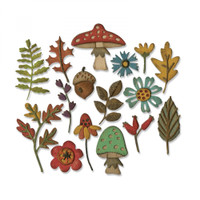 Sizzix Thinlits Die Set 20PK - Funky Foliage 663087