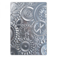 Sizzix 3D Textured Impressions Embossing Folder - Mechanics 662715