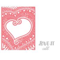 Sizzix Impresslits Embossing Folder - Bohemian Heart 661953