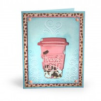 Sizzix Impresslits Embossing Folder - Thanks a Latte 662277