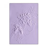 Sizzix 3D Textured Impressions Embossing Folder - Flower Heart Doodle 662455