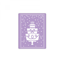 Sizzix Impresslits Embossing Folder - Birthday Cake 662829