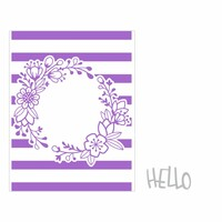 Sizzix Impresslits Embossing Folder - Wildflower Frame 662458