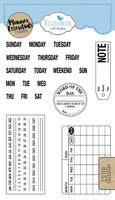 Elizabeth Craft Design Clear Stamp - Planner Calendar CS118