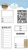 Elizabeth Craft Design Clear Stamp - Planner Color Chart CS123