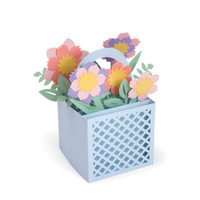 PRE-ORDER ONLY Sizzix Thinlits Die Set 12PK - Card in a Box Flower Basket 663578