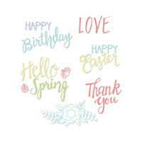 Sizzix Clear Stamps - Spring Phrases 663587