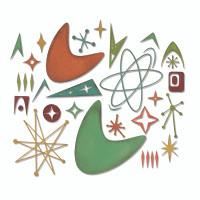 Sizzix Thinlits Die Set 25PK - Atomic Elements by Tim Holtz 664152