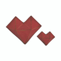 Sizzix Thinlits Die Set 2PK - Faceted Heart by Tim Holtz 664156