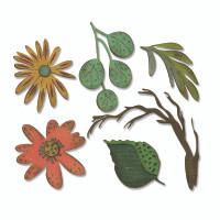 Sizzix Thinlits Die Set 6PK - Funky Floral Large by Tim Holtz 664158