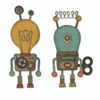 PRE-ORDER ONLY Sizzix Thinlits Die Set 14PK - Robotic by Tim Holtz 664162