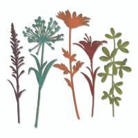 Sizzix Thinlits Die Set 5PK - Wildflower Stems #2 by Tim Holtz 664164