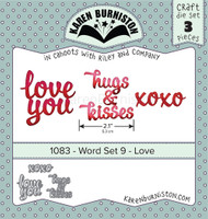 Karen Burniston - Word Set 9 - Love 1083