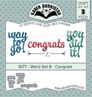 Karen Burniston - Word Set 8 Congrats 1077