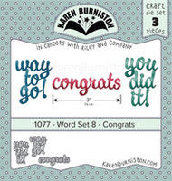 Karen Burniston - Word Set 8 Congrats 1077