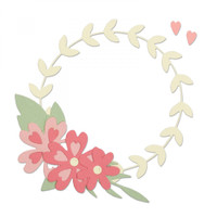 Sizzix Thinlits Die Set 9PK - Floral Wreath 663377