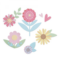 Sizzix Thinlits Die Set 15PK - Flower Set 663459