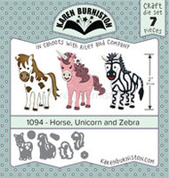 Karen Burniston - Horse Unicorn Zebra 1094