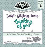 Karen Burniston - Word Set 10 - Thinking of You 1102