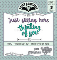 Karen Burniston - Word Set 10 - Thinking of You 1102