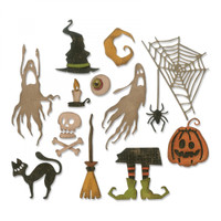Sizzix Thinlits Die Set 17PK - Frightful Things 664209