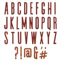 Sizzix Thinlits Die Set 65PK - Alphanumeric Classic Upper 664223