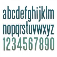 Sizzix Thinlits Die Set 96PK - Alphanumeric Classic Lower 664224