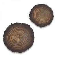 Sizzix Bigz Die w/Texture Fades - Mini Tree Rings 664232