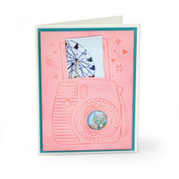 Sizzix Impresslits Embossing Folder - Instant Camera 663631
