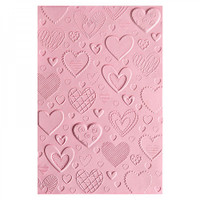 Sizzix 3-D Textured Impressions Embossing Folder - Hearts 663628