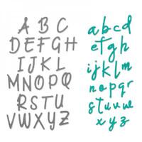 Sizzix Thinlits Die Set 2PK - Alphabet Set 663421