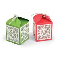 Sizzix Thinlits Die Set 4PK - Snowflake Favor Box 663610