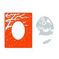Sizzix Impresslits Embossing Folder - Changing of the Seasons 662828